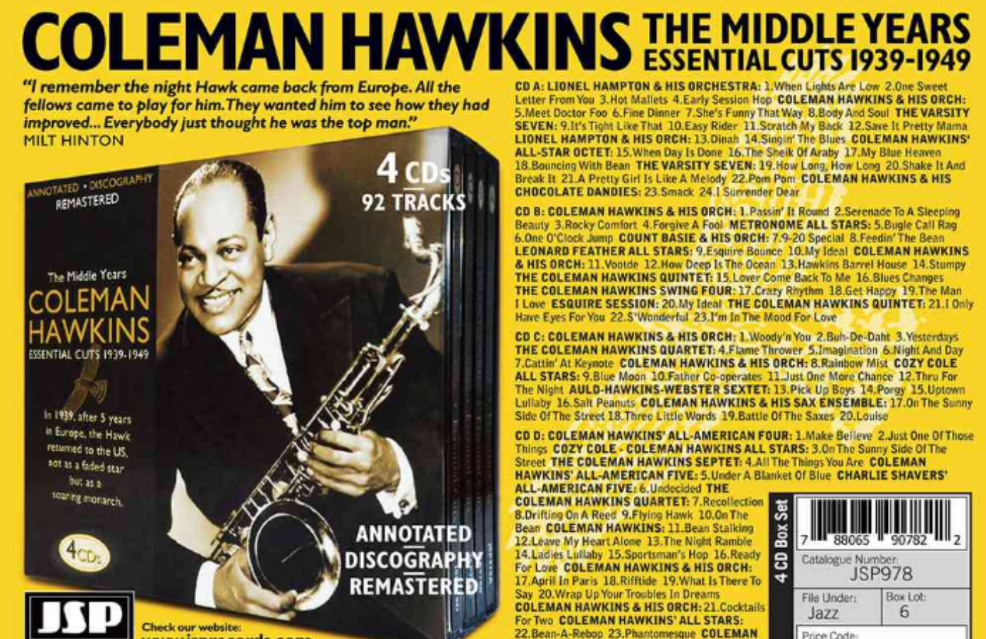 Coleman Hawkins - The Middle Years Essential Cuts